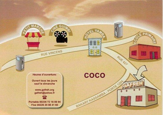 Plan accès GAFREH